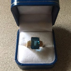 Size 7 Blue Topaz ladies ring